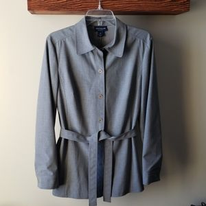 Ann Taylor heather grey blazer, shirt blazer sz 8